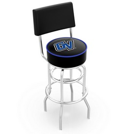L7C4 - Chrome Double Ring Grand Valley State Swivel Bar Stool with a Back by Holland Bar Stool Company
