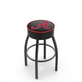 L8B1 - 4 Alabama Cushion Seat with Black Wrinkle Base Swivel Bar Stool by Holland Bar Stool Company (ALogo)