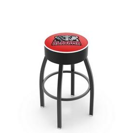 L8B1 - 4 Alabama Cushion Seat with Black Wrinkle Base Swivel Bar Stool by Holland Bar Stool Company