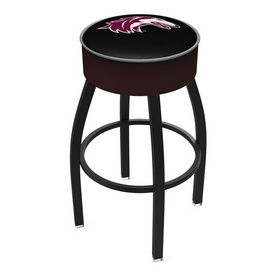 L8B1 - 4 Southern Illinois Cushion Seat with Black Wrinkle Base Swivel Bar Stool by Holland Bar Stool Company