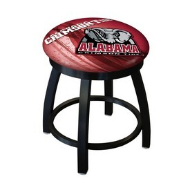 """18"""" L8B2B-18 - Black Wrinkle Alabama Swivel Stool with Accent Ring by Holland Bar Stool Company"""