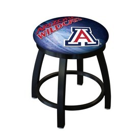 "18"" L8B2B-18 - Black Wrinkle Arizona Swivel Stool with Accent Ring by Holland Bar Stool Company"