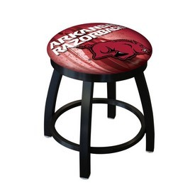 """18"""" L8B2B-18 - Black Wrinkle Arkansas Swivel Stool with Accent Ring by Holland Bar Stool Company"""