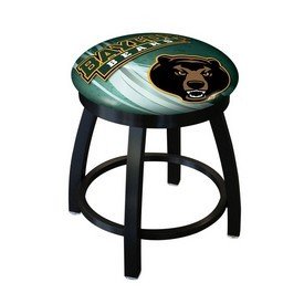 """18"""" L8B2B-18 - Black Wrinkle Baylor Swivel Stool with Accent Ring by Holland Bar Stool Company"""