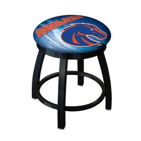 """18"""" L8B2B-18 - Black Wrinkle Boise State Swivel Stool with Accent Ring by Holland Bar Stool Company"""
