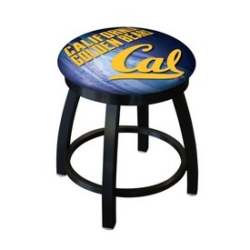 "18"" L8B2B-18 - Black Wrinkle Cal Swivel Stool with Accent Ring by Holland Bar Stool Company"