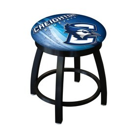 """18"""" L8B2B-18 - Black Wrinkle Creighton Swivel Stool with Accent Ring by Holland Bar Stool Company"""