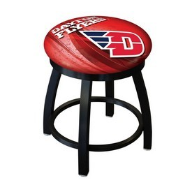 """18"""" L8B2B-18 - Black Wrinkle University of Dayton Swivel Stool with Accent Ring by Holland Bar Stool Company"""