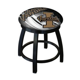 """18"""" L8B2B-18 - Black Wrinkle Idaho Swivel Stool with Accent Ring by Holland Bar Stool Company"""