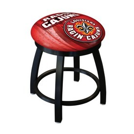 "18"" L8B2B-18 - Black Wrinkle Louisiana-Lafayette Swivel Stool with Accent Ring by Holland Bar Stool Company"