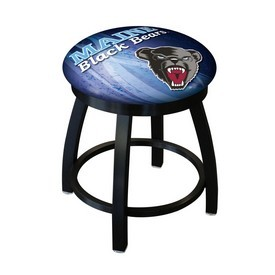 """18"""" L8B2B-18 - Black Wrinkle Maine Swivel Stool with Accent Ring by Holland Bar Stool Company"""
