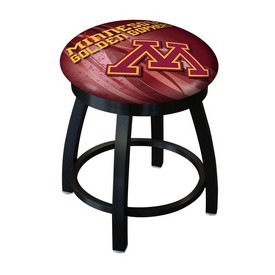 """18"""" L8B2B-18 - Black Wrinkle Minnesota Swivel Stool with Accent Ring by Holland Bar Stool Company"""