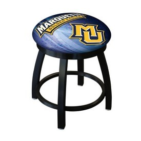 "18"" L8B2B-18 - Black Wrinkle Marquette Swivel Stool with Accent Ring by Holland Bar Stool Company"