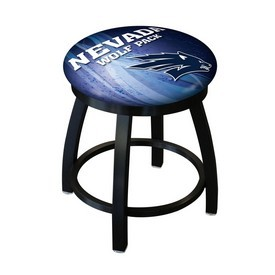 "18"" L8B2B-18 - Black Wrinkle Nevada Swivel Stool with Accent Ring by Holland Bar Stool Company"