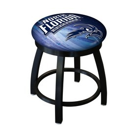"18"" L8B2B-18 - Black Wrinkle North Florida Swivel Stool with Accent Ring by Holland Bar Stool Company"