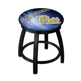 """18"""" L8B2B-18 - Black Wrinkle Pitt Swivel Stool with Accent Ring by Holland Bar Stool Company"""