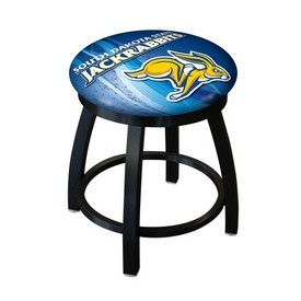 """18"""" L8B2B-18 - Black Wrinkle South Dakota State Swivel Stool with Accent Ring by Holland Bar Stool Company"""