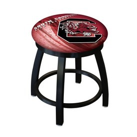 """18"""" L8B2B-18 - Black Wrinkle South Carolina Swivel Stool with Accent Ring by Holland Bar Stool Company"""