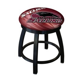 """18"""" L8B2B-18 - Black Wrinkle Southern Illinois Swivel Stool with Accent Ring by Holland Bar Stool Company"""