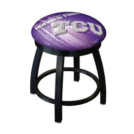 "18"" L8B2B-18 - Black Wrinkle TCU Swivel Stool with Accent Ring by Holland Bar Stool Company"