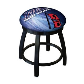 "18"" L8B2B-18 - Black Wrinkle Tulsa Swivel Stool with Accent Ring by Holland Bar Stool Company"