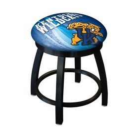 """18"""" L8B2B-18 - Black Wrinkle Kentucky """"Wildcat"""" Swivel Stool with Accent Ring by Holland Bar Stool Company"""