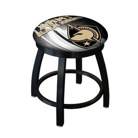 """18"""" L8B2B-18 - Black Wrinkle US Military Academy (ARMY) Swivel Stool with Accent Ring by Holland Bar Stool Company"""