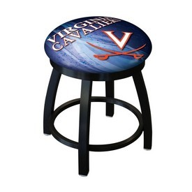 "18"" L8B2B-18 - Black Wrinkle Virginia Swivel Stool with Accent Ring by Holland Bar Stool Company"