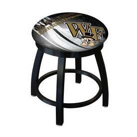 """18"""" L8B2B-18 - Black Wrinkle Wake Forest Swivel Stool with Accent Ring by Holland Bar Stool Company"""