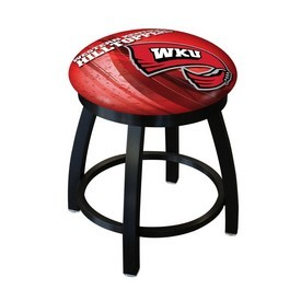 """18"""" L8B2B-18 - Black Wrinkle Western Kentucky Swivel Stool with Accent Ring by Holland Bar Stool Company"""