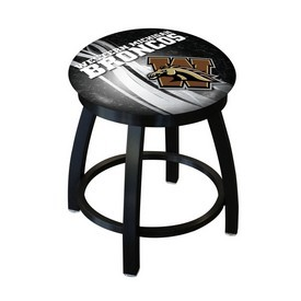 """18"""" L8B2B-18 - Black Wrinkle Western Michigan Swivel Stool with Accent Ring by Holland Bar Stool Company"""
