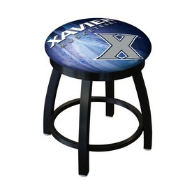 """18"""" L8B2B-18 - Black Wrinkle Xavier Swivel Stool with Accent Ring by Holland Bar Stool Company"""