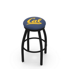 L8B2B - Black Wrinkle Cal Swivel Bar Stool with Accent Ring by Holland Bar Stool Company