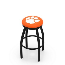 L8B2B - Black Wrinkle Clemson Swivel Bar Stool with Accent Ring by Holland Bar Stool Company