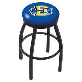 L8B2B - Black Wrinkle South Dakota State Swivel Bar Stool with Accent Ring by Holland Bar Stool Company