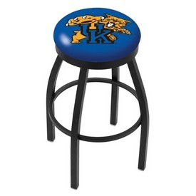 L8B2B - Black Wrinkle Kentucky Wildcat Swivel Bar Stool with Accent Ring by Holland Bar Stool Company