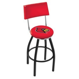 L8B4 - Black Wrinkle Louisville Swivel Bar Stool with a Back by Holland Bar Stool Company