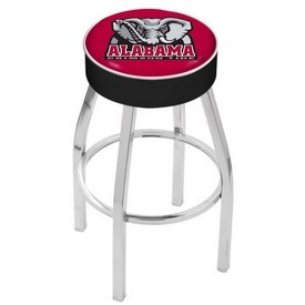 L8C1 - 4 Alabama Cushion Seat with Chrome Base Swivel Bar Stool by Holland Bar Stool Company