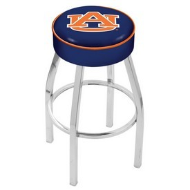 L8C1 - 4 Auburn Cushion Seat with Chrome Base Swivel Bar Stool by Holland Bar Stool Company