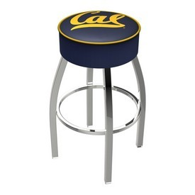 L8C1 - 4 Cal Cushion Seat with Chrome Base Swivel Bar Stool by Holland Bar Stool Company