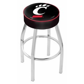 L8C1 - 4 Cincinnati Cushion Seat with Chrome Base Swivel Bar Stool by Holland Bar Stool Company