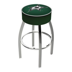 L8C1 - 4 Dallas Stars Cushion Seat with Chrome Base Swivel Bar Stool by Holland Bar Stool Company