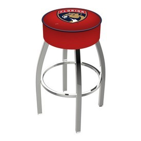 L8C1 - 4 Florida Panthers Cushion Seat with Chrome Base Swivel Bar Stool by Holland Bar Stool Company