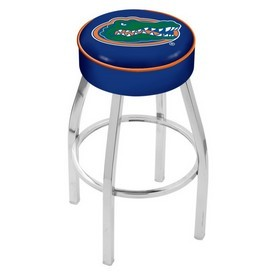 L8C1 - 4 Florida Cushion Seat with Chrome Base Swivel Bar Stool by Holland Bar Stool Company