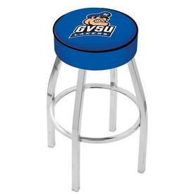 L8C1 - 4 Grand Valley State Cushion Seat with Chrome Base Swivel Bar Stool by Holland Bar Stool Company