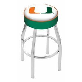 L8C1 - 4 Miami (FL) Cushion Seat with Chrome Base Swivel Bar Stool by Holland Bar Stool Company