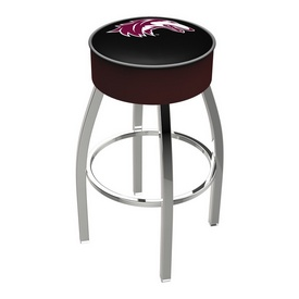 L8C1 - 4 Southern Illinois Cushion Seat with Chrome Base Swivel Bar Stool by Holland Bar Stool Company