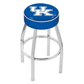 L8C1 - 4 Kentucky UK Cushion Seat with Chrome Base Swivel Bar Stool by Holland Bar Stool Company