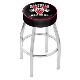 L8C1 - 4 Valdosta State Cushion Seat with Chrome Base Swivel Bar Stool by Holland Bar Stool Company