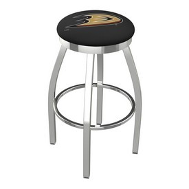 L8C2C - Chrome Anaheim Ducks Swivel Bar Stool with Accent Ring by Holland Bar Stool Company